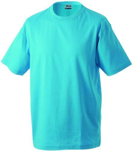 Round-T Shirt Heavy/James & Nicholson (JN 002) S M L XL XXL 3XL 4XL 5XL turkis,S