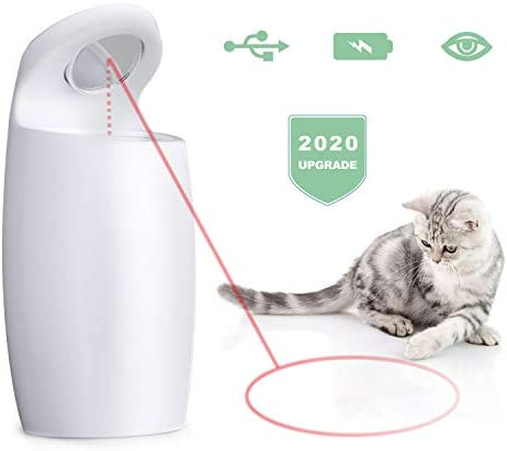 DAMGOO [2019 Safe for Eyes] Interactive Cat Light Toy Automatic Rotating Light Toys for Cats Electronic Toys for Exercise, Rechargeable,2 Speeds (Green) 2