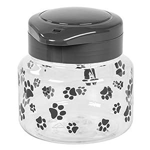 IRIS Pet Treat Jar, 44 oz, Gray