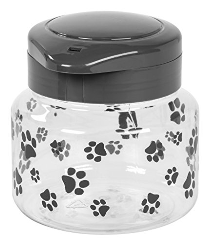 IRIS Pet Treat Jar Gray