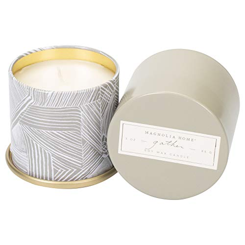 Gather Scented 3.0 ounce Soy Wax Tin Candle by Joanna Gaines - Illume (Gaines Magnolia)