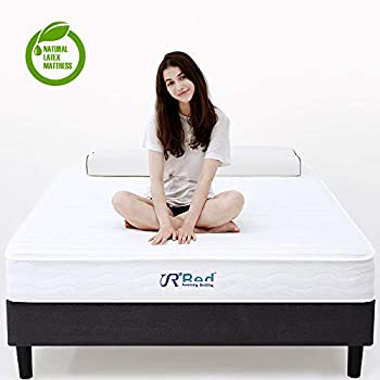 Sunrising Bedding 8 inch Natural Latex King Mattress & Independently Encased Innerspring Coil Hybrid Mattress - Not Sagging and Sink - 120 Day Free Return