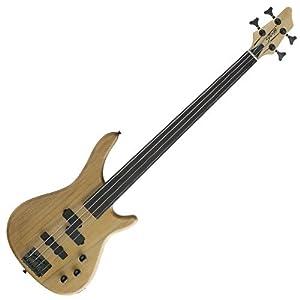 Stagg BC300FL-NS Fusion Fretless E-Bassgitarre natur