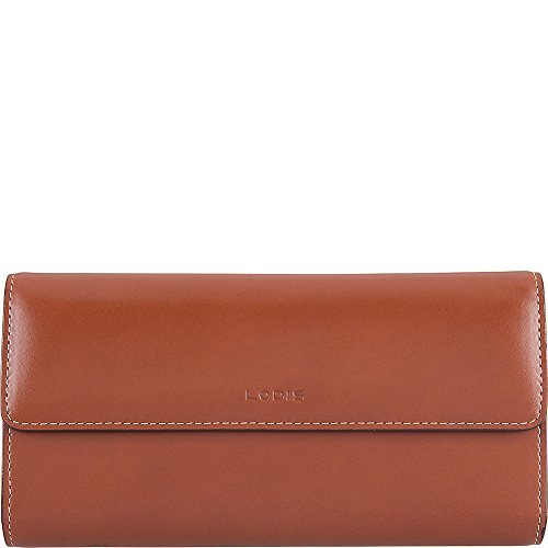 Lodis Audrey RFID Checkbook Clutch Wallet (Sequoia/Papaya) by Lodis