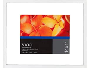 Snap White Wood Float Frame, 11 by 14-Inch for a 8 by 10-Inch Image