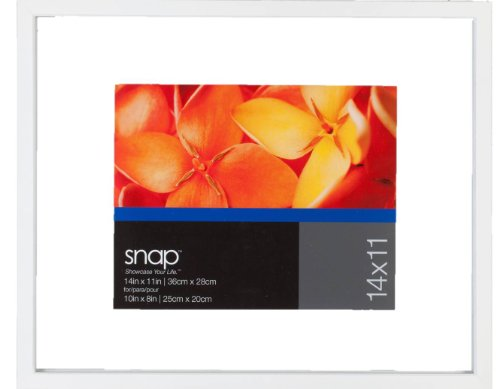 Snap 11x14 White Float Frame For Floating Display of 8x10 Image (Floater Frame Picture Frame)