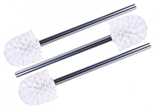 3 x Wellgro stainless steel toilet brushes white - Spare toilet brushes - toilet brushes - brushes - Spare Brushes - Spare Toilet Brushes