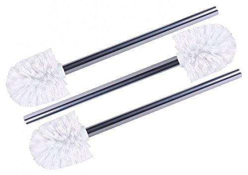 3 x Wellgro stainless steel toilet brushes white - Spare toilet brushes - toilet brushes - brushes - Spare Brushes - Spare Toilet Brushes