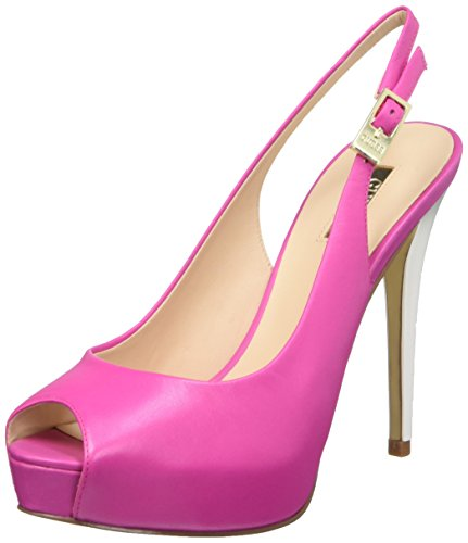 GUESS Lea05, Sandalias con Plataforma para Mujer Rosa