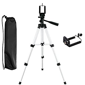 ACFUN Portable iPhone Camera Tripod Stand Holder, Adjustable Rotatable Retractable Aluminum Tripods Smartphones Mount for iPhone7 7Plus 6s Plus iphonex iphone8plus Samsung Galaxy S8 S9plus