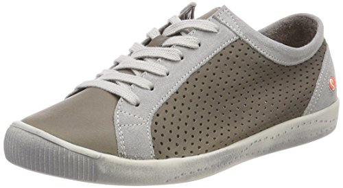 Ica388sof Smooth grey Softinos Suede Baskets Beige Lt Femme Taupe d76x6wa