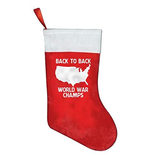 (Back-to-Back World War Champs Chrismas Stockings,Christmas Decoration 16.5x10.2 Inches)