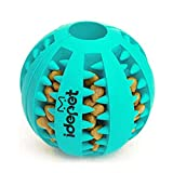 Idepet Dog Toy Ball, Nontoxic Bite Resistant Toy Ball for Pet Dogs Puppy Cat, Dog Food Treat Feeder Tooth Cleaning Ball,Dog Pet Chew Tooth Cleaning Ball Pet Exercise Game Ball IQ Training Ball