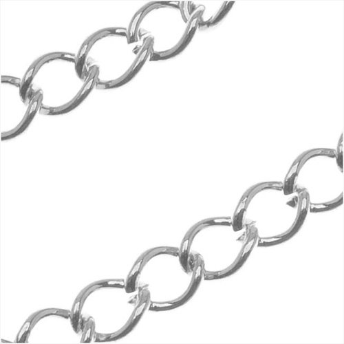 Silver Filled Curb Chain 2.9mm - Extenders - Bulk By The Foot