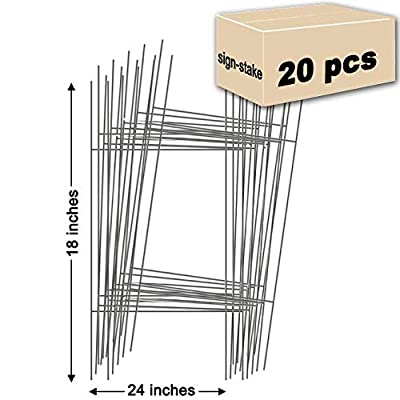20 Sign Stakes Double H-Frame Stakes | 10 in. x 30 in. USA Made