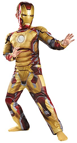 UHC Boy's Iron Man Mark 42 Marvel Avengers Superhero Child Halloween Costume, Child S (4-6)