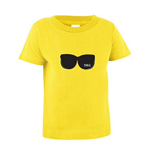 Black Sunglasses With Swag Baby Toddler Baby Kid T-Shirt Tee Yellow 18 - Swag Sunglasses