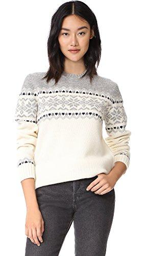 Penfield Women's Heywood Knit Sweater, Ecru, - Isle Sweater
