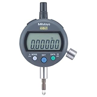 Mitutoyo 543-396 Absolute Digimatic Indicator, ID-C Standard Type, #4-48 UNF Thread, 3/8″ Stem Dia., Lug Back, 0-0.5″ (0-12.7mm) Range, 0.00005″ (0.001mm) Resolution, +/-0.0001″ Accuracy, Meets IP42 Specifications