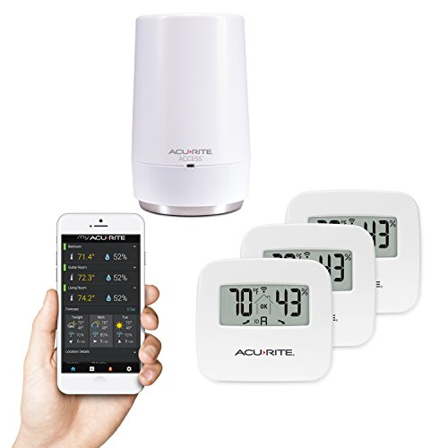 - AcuRite 01152M 3-Sensor Indoor Temperature and Humidity Smart Home Environment System with My AcuRite