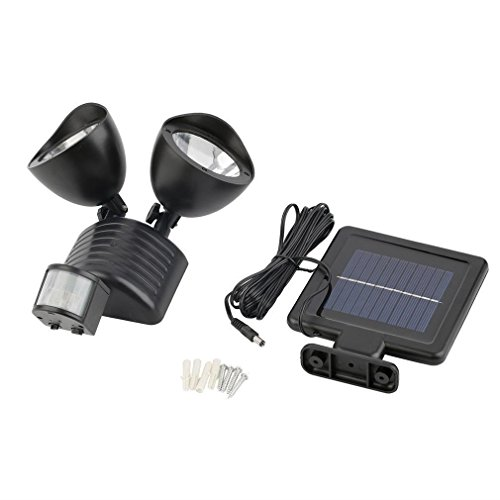 22 LED Dual light Wall Mounted Solar PIR Motion Sensor Light Outdoor Garden Lamp Wall Lamp ...