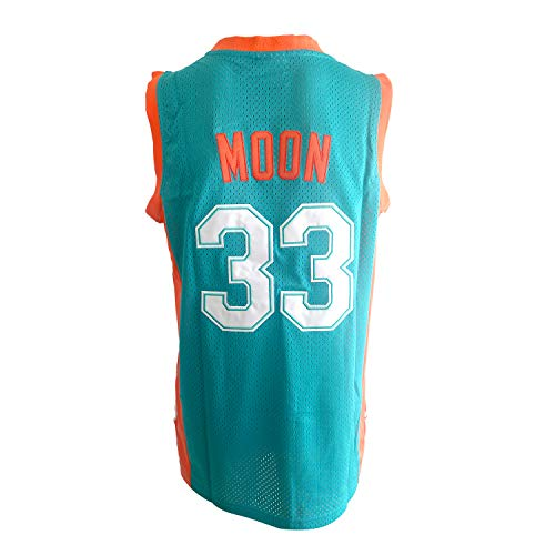 - OKnown NO.33 Jackie Moon Flint Tropical Semi-Professional Basketball Movie Throwback Stitched Jerseys Green Size M