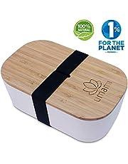 Umami - Fiambrera Eco de Fibra de bambú | Bento 100% ecológico | Apto para lavavajillas | Durable, Sano y Diseño | Apto para Adultos y niños | Marca Francesa, Beige Natural, L