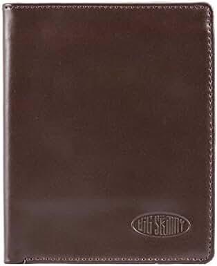 Big Skinny Men's Leather Hipster Bi-fold Wallet