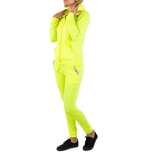 2 Teiler Freizeit Overall Für Damen , Gelb In Gr. S bei Ital-Design