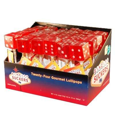 Cherry Dice - Sin City Cherry Dice Lollipops - 24 / Box