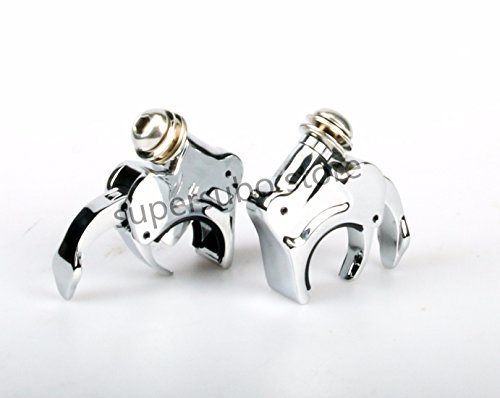 CHROMED For harley 49mm Detachable Windshield Clamps Dyna Street Bob Wide Glide 06-16 (Release Wide Windshields Quick)