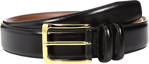 Johnston & Murphy Mens Smooth Basic Belt (38 - Black)  (Belt Murphy Mens Johnston And Buckle)