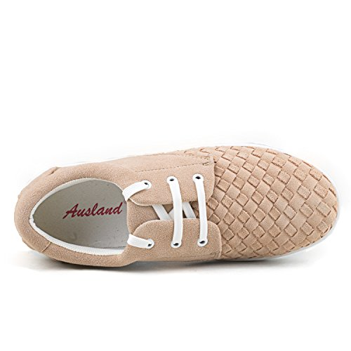 Shenduo Mens Sneakers In Pelle Scarpe D7366 Sand 39