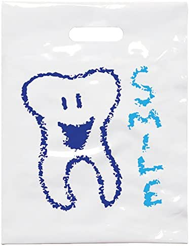 Practicon 1109644 Smile Tooth Patient Care Bags (Pack of 100)