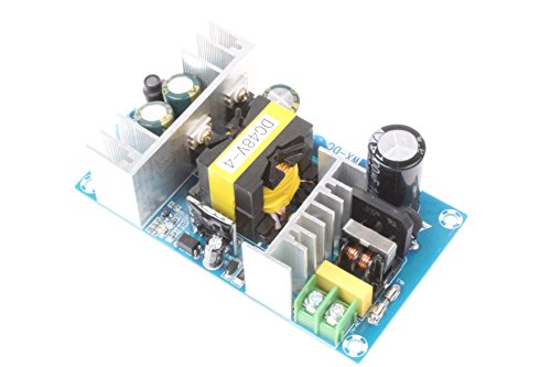 NOYITO AC-DC 48V 4A Isolated Power Supply Module AC 110V 100-240V to 48V 4A / Peak 5A 240W Max Power With Overcurrent Overload Short-circuit Protection for Civil or industrial control systems (48V 4A)