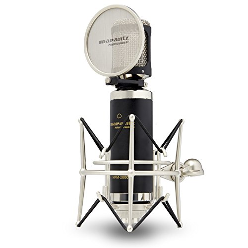 Marantz Professional MPM-2000 | Cardioid Condenser Microphone with Pop Filter, Shock Mount, & Carry Case (34mm / XLR Out)