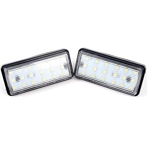 - Anzio 2x White 6000K 1210-SMD 12V LED License Plate Lights Lamp Set Assemblies for Lexus LX470 LX570 GX470 Toyota Land Cruiser Reiz