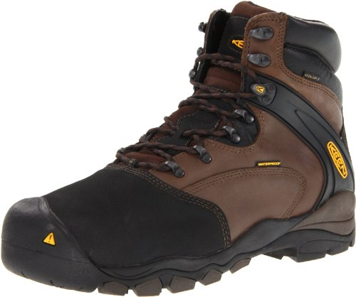 KEEN Utility Men's Louisville 6-Inch Internal Met Work Boot,Slate Black,9 D US