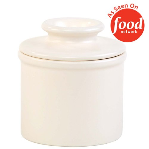 Ceramic Bell (The Original Butter Bell Crock by L. Tremain, Retro & Matte Collection - Classic Ivory)