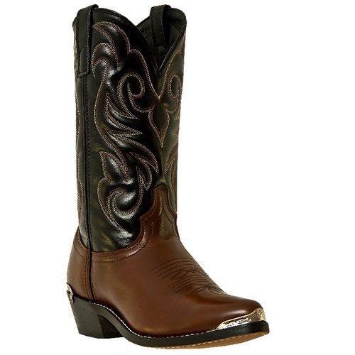 Laredo Mens Brown Peanut Crunch Leather Nashville 12in J Toe Cowboy Boots 10.5 D