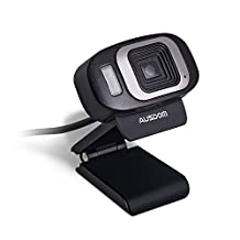 Ausdom AF225 Webcam 1920x1080P Full HD [Autofocus/Auto Focusing]LED Night Light Noise-cancelling Web Cam Camera for Online Video Calling,Recording, Computer PC Desktop Laptop Skype Facetime Youtube Network