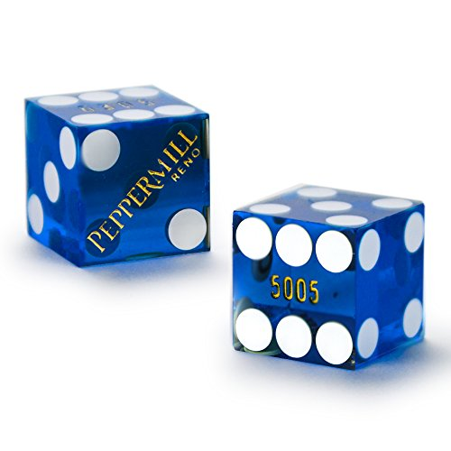 Cancelled Casino - Pair (2) of Official 19mm Casino Dice Used at Peppermill Casino by Brybelly