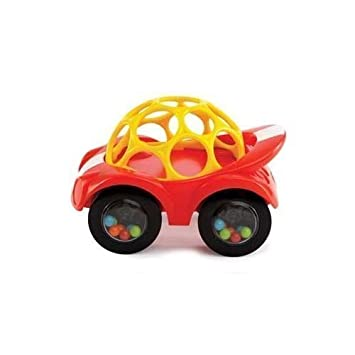 Amazon Com Oball Rattle And Roll Toy Car Red Baby Rattles Baby