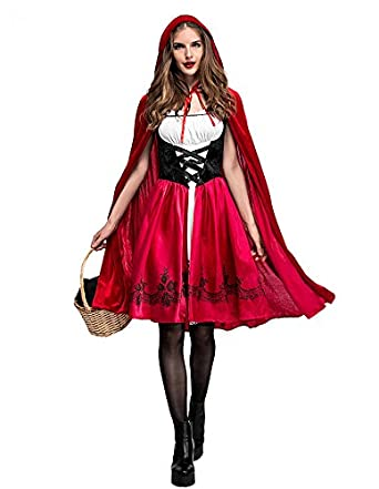 SUGOINE 赤ずきん 衣装 ハロウィン 仮装 レディース コスチューム かわいい ハロウィン衣装 (M)