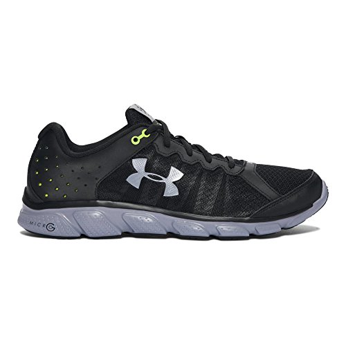 Freedom Synthetic Leather - Under Armour Men's Freedom Assert 6 Sneaker, Black (001)/Steel, 8.5