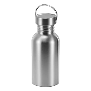 TiooDre Botella Agua Acero Inoxidable, Ideal para Ciclismo Camping Deportes al Aire Libre Senderismo Correr, 500ml Altura 19.2cm/7.6