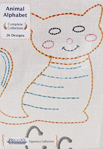 Floriani Signature Collection Animal Alphabet 26 Designs CD Machine Embroidery