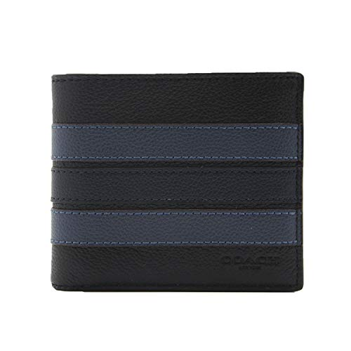 Coach F24649 3-IN-1 Wallet With Varsity Stripe (Black/Denim/Midnight)