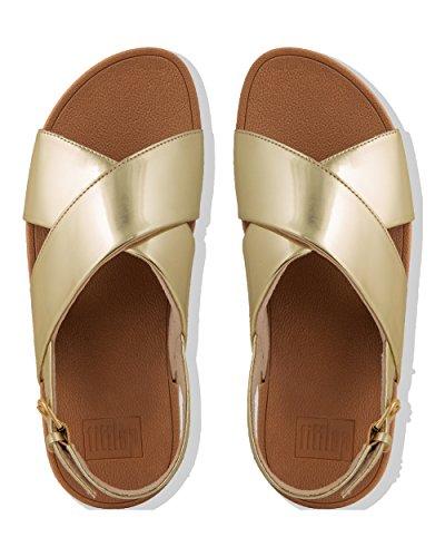 Back Dorado Sandalia Con gold Pulsera Para 301 Mujer Fitflop Lulu Mirror Mirror Strap SfWTz