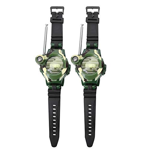 Alomejor 2pcs Walkie Talkie Long Range Kids Walky Talky Watches Two-Way Radios with Compass Torch for Kids Boys Grils (Walky Talky Watch)
